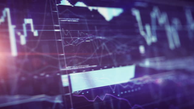 Financial Chart on Digital Display video