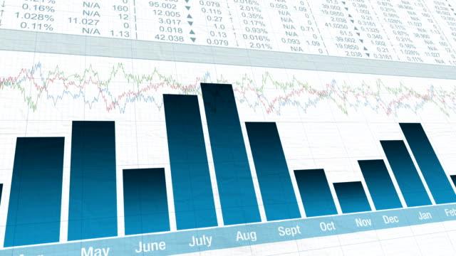 金融チャート - レポートのビデオ点の映像素材/bロール