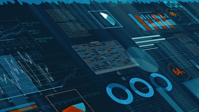 financial charts animation - balance graphics video stock e b–roll