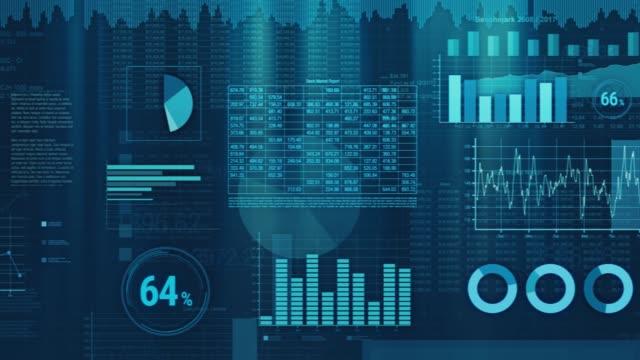 vídeos de stock, filmes e b-roll de animação de gráficos financeiros - cifras financeiras
