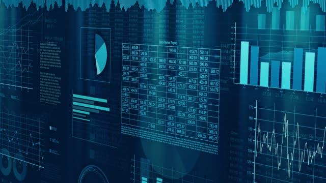 financial charts animation - инфографика стоковые видео и кадры b-roll