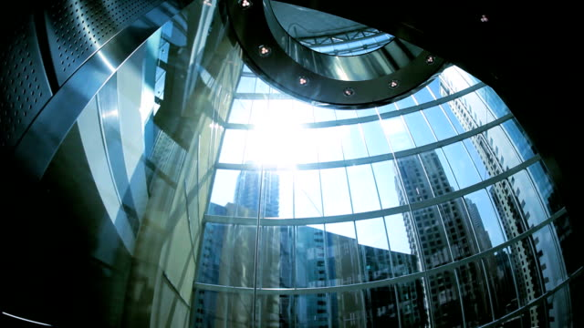 Financial City office Skyscraper Ascending City Elevator video