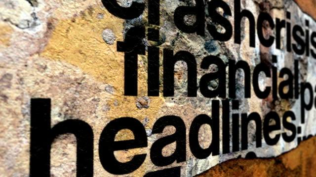Financial crisis headline news video