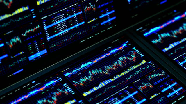 Financial data and charts video
