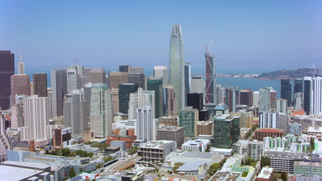 AERIAL Financial district in San Francisco, California