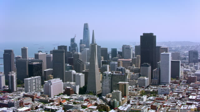 AERIAL Financial district, San Francisco, California