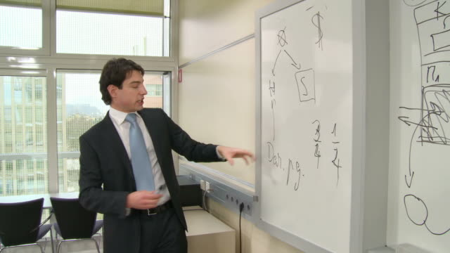 HD: Financial Expertise Lecturing In The Seminar video