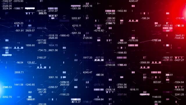 financial figures data analyzing - табло котировок стоковые видео и кадры b-roll