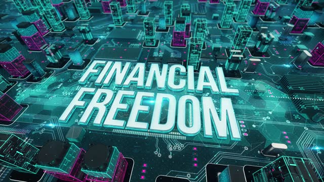 Financial Freedom with digital technology concept