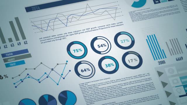 vidéos et rushes de rapports sur les données et les statistiques des marchés financiers - timeline