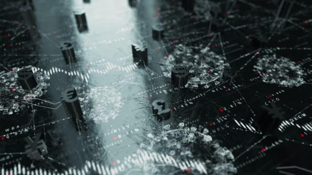 vídeos y material grabado en eventos de stock de mercados financieros - sin gente - planificación financiera
