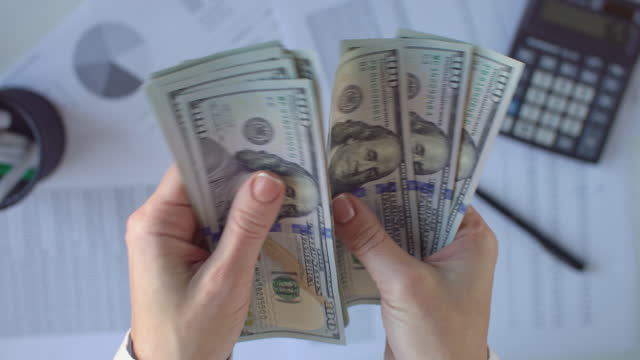 Financial planning USA, Finance, Budget, Home Finances, Planning,Bank Statement, Finance, Business, Planning, Tax us paper currency stock videos & royalty-free footage