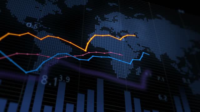 vídeos de stock e filmes b-roll de financial stock data - fazer dinheiro