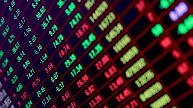 T/L 4K Financial stock market concept time-lapse photography