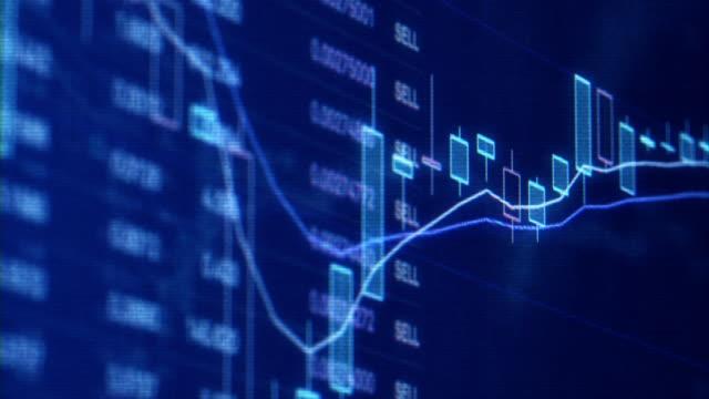 デジタル表示で金融取引チャート ビデオ