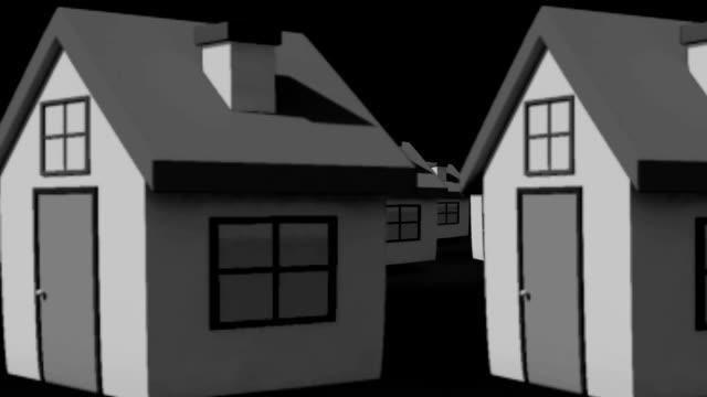 trovare la casa perfetta animazione - perfezione video stock e b–roll