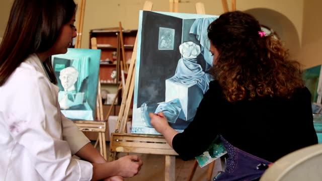 アートの学生絵画 ビデオ