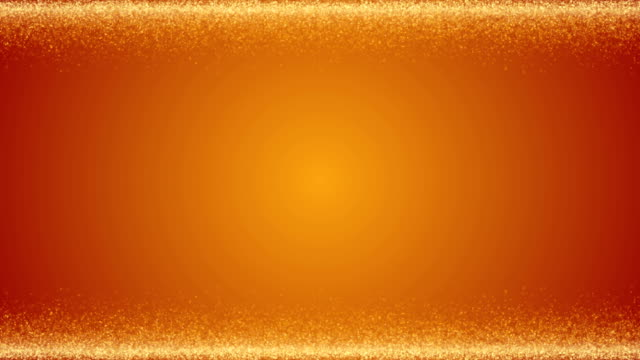 Fine glittering gold Christmas particles framed abstract festive luxury template background in 4K UHD video seamless loop animation Fine shimmering golden particles in 4K UHD video loop animation. uk border stock videos & royalty-free footage