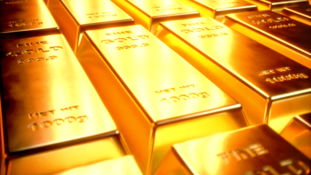 Fine Gold bars 1000 grams on the floor with scattered pieces of gold. Concept of wealth. 4K 3D Animation Fine Gold bars 1000 grams on the floor with scattered pieces of gold. Concept of wealth. 4K 3D Animation gold bars stock videos & royalty-free footage