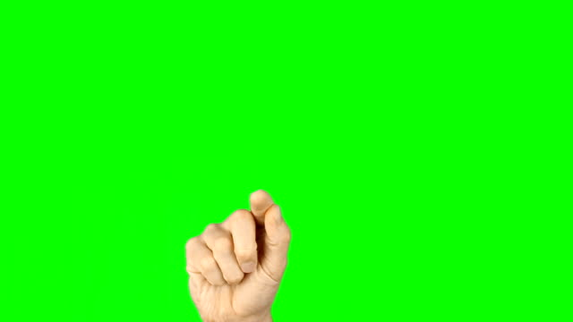 Finger draw heart shape. Man hand on green screen. For animation tamplate. Gestures front view green background. Gestures hand finger on green screen. Touch virtual screen finger gestures. Technology. video