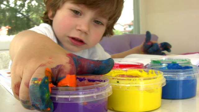 Finger painting. video