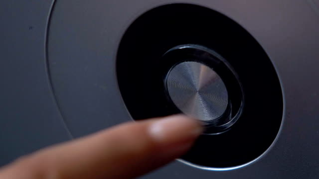 Finger push button with illumination, power on PC or home lift, launch of tech