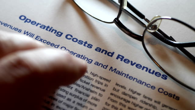 Finger tapping on costs and revenues form