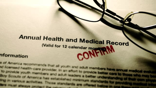 Finger tapping on health and medical record