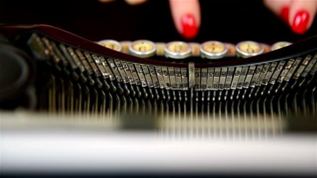Finger Typing on Typewriter. video