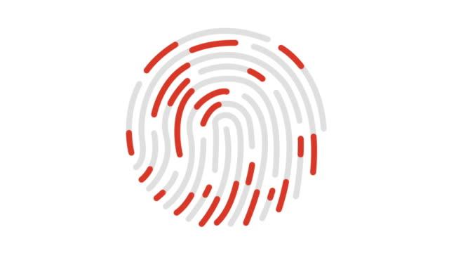 animering av finger avtrycks analys linje ikon - fingranskning bildbanksvideor och videomaterial från bakom kulisserna