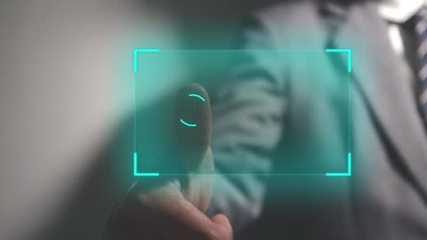 Fingerprint biometric Businessman scan fingerprint biometric identity. concept of fingerprint security with advanced technological. identity stock videos & royalty-free footage