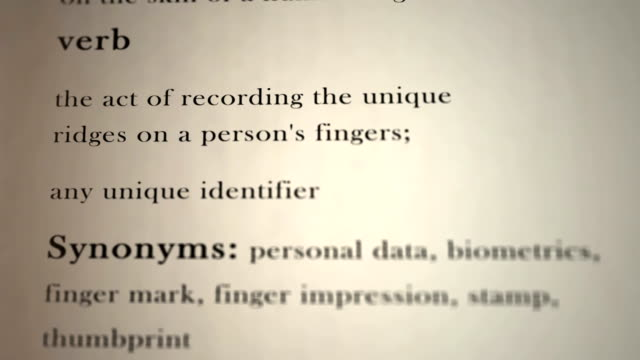 Fingerprint Definition