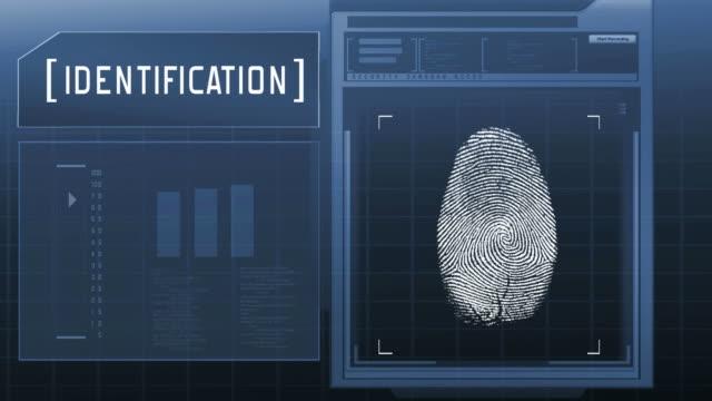 Fingerprint detection scanner : Access granted (blue) video