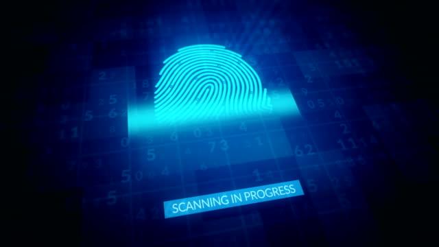 指紋識別、セキュリティスキャン 4k アニメーション - なりすまし犯罪点の映像素材/bロール