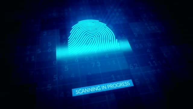 Fingerprint Identification, Security Scanning 4k Animation Fingerprint Identification, Security Scanning Animation identity theft stock videos & royalty-free footage