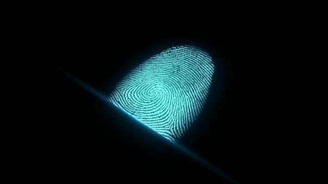 4 K identificação de impressão digital - vídeo