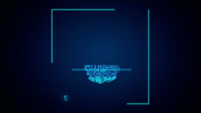 fingerprint identification - замок средство безопасности стоковые видео и кадры b-roll