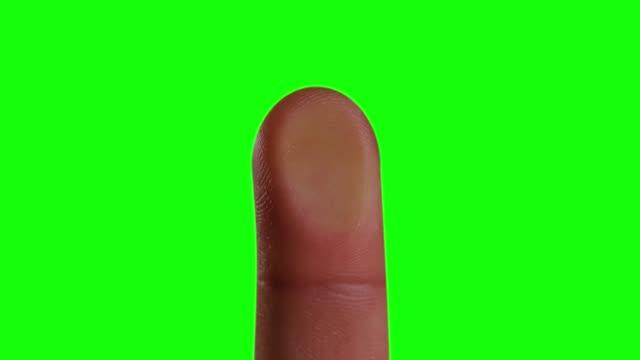 Fingerprint rests on green background