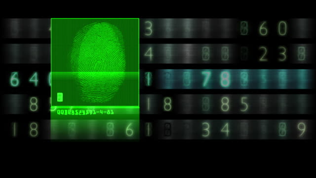 Fingerprint scan results in successful match Animation