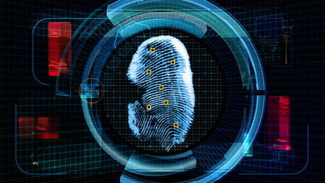 Fingerprint Scan Technology Security (4K Animation) video