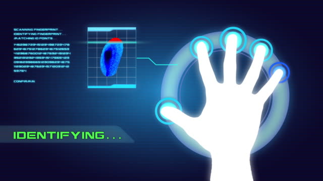 Fingerprint Scanner Futuristic Hi Tech Security System video