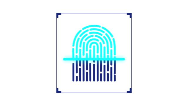 Fingerprint scanner Scanning Fingerprint And Accepting The Scan Fingerprint scanner accepting a scan after scanning biosensor stock videos & royalty-free footage