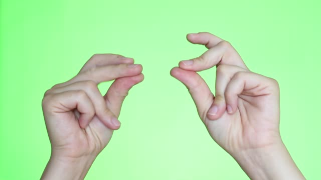 Fingers Snapping Hands close-up. Chroma key background. Green Screen. Isolated snapping stock videos & royalty-free footage