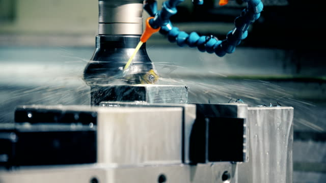 Finishing metal working on high precision grinding machine in workshop Finishing metal working on high precision grinding machine in factory metal worker stock videos & royalty-free footage