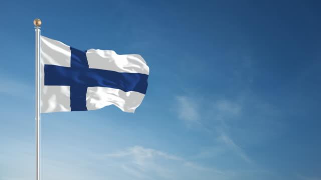 4k finland flagga - loopable - finland bildbanksvideor och videomaterial från bakom kulisserna