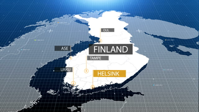 Finland map with label then with out label video
