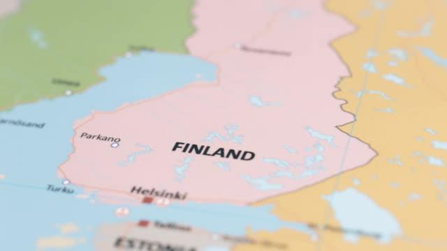 europa finland på världskartan - sweden map bildbanksvideor och videomaterial från bakom kulisserna
