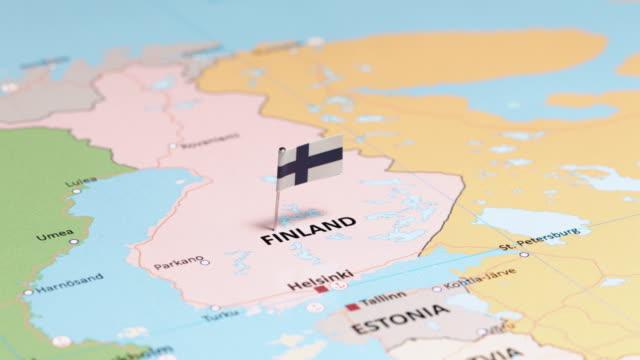 finland med flagga - sweden map bildbanksvideor och videomaterial från bakom kulisserna
