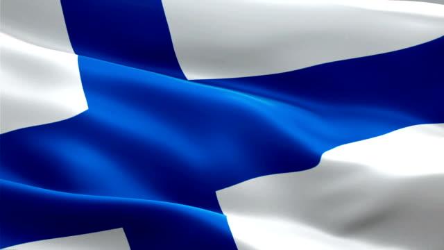 finsk flagga vajande i vinden videofilmer full hd. realistiska finlands flagga bakgrund. finland flagga looping närbild 1080p full hd 1920 x 1080 film. finland eu europeiska land flaggor full hd - finland bildbanksvideor och videomaterial från bakom kulisserna