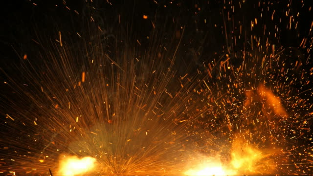 Fire and flames of firecracker explosion on black background 1080p : fire and flames of firecracker explosion on black background petard stock videos & royalty-free footage